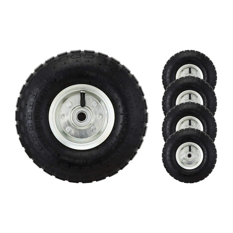 Bond Hardware – Lot de 2 roues pneumatiques 10' pour diable/trolley/brouette, noir