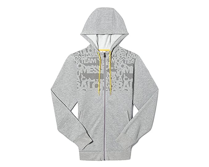 : adidas Messi Full Zip Hooded Sweat Jacket Grey
