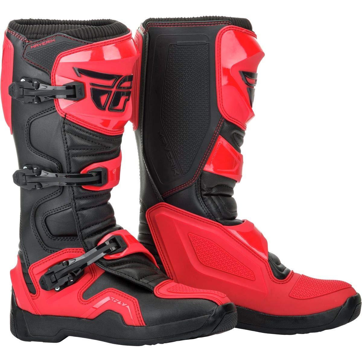 11 Fly Racing 2019 Maverik Boots RED//BLACK