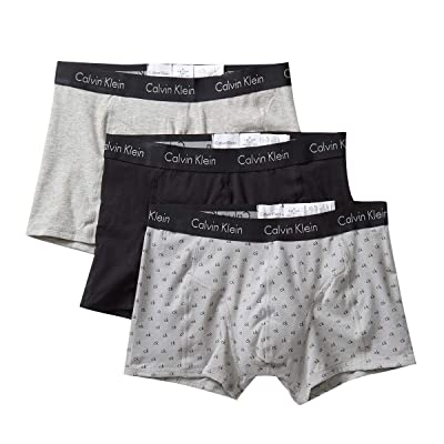 Calvin Klein Men's Elements 3 Pack Trunks at Amazon Men's Clothing store