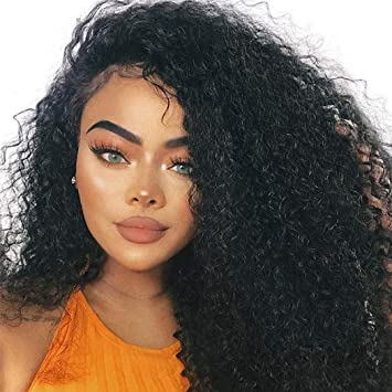 13x6 Deep Curly Pre Plucked 250 Density Lace Front Human Hair Wigs With Baby Hair Natural Remy Hair Brazilian Lace Front Wigs Fixing Prices According To Quality Of Products Hair Extensions & Wigs