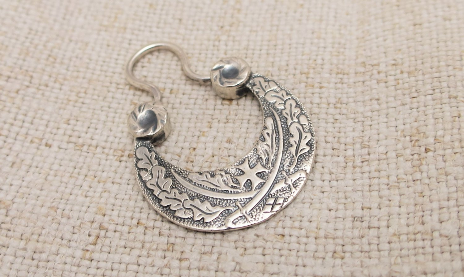 Earring for men viking celtic slavic cossacks sabre sword style sterling silver 3.29 gm handcrafted earrings for Men