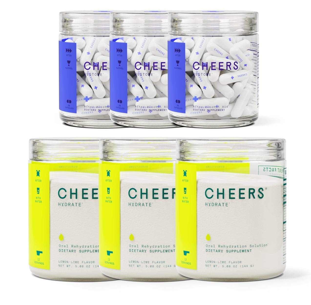 Cheers Formerly Thrive After Alcohol Aid ORS Combo for Fast Alcohol Detox Rehydration Recovery After Drinking Alcohol. Replenish with Our Electrolyte Formula Triple