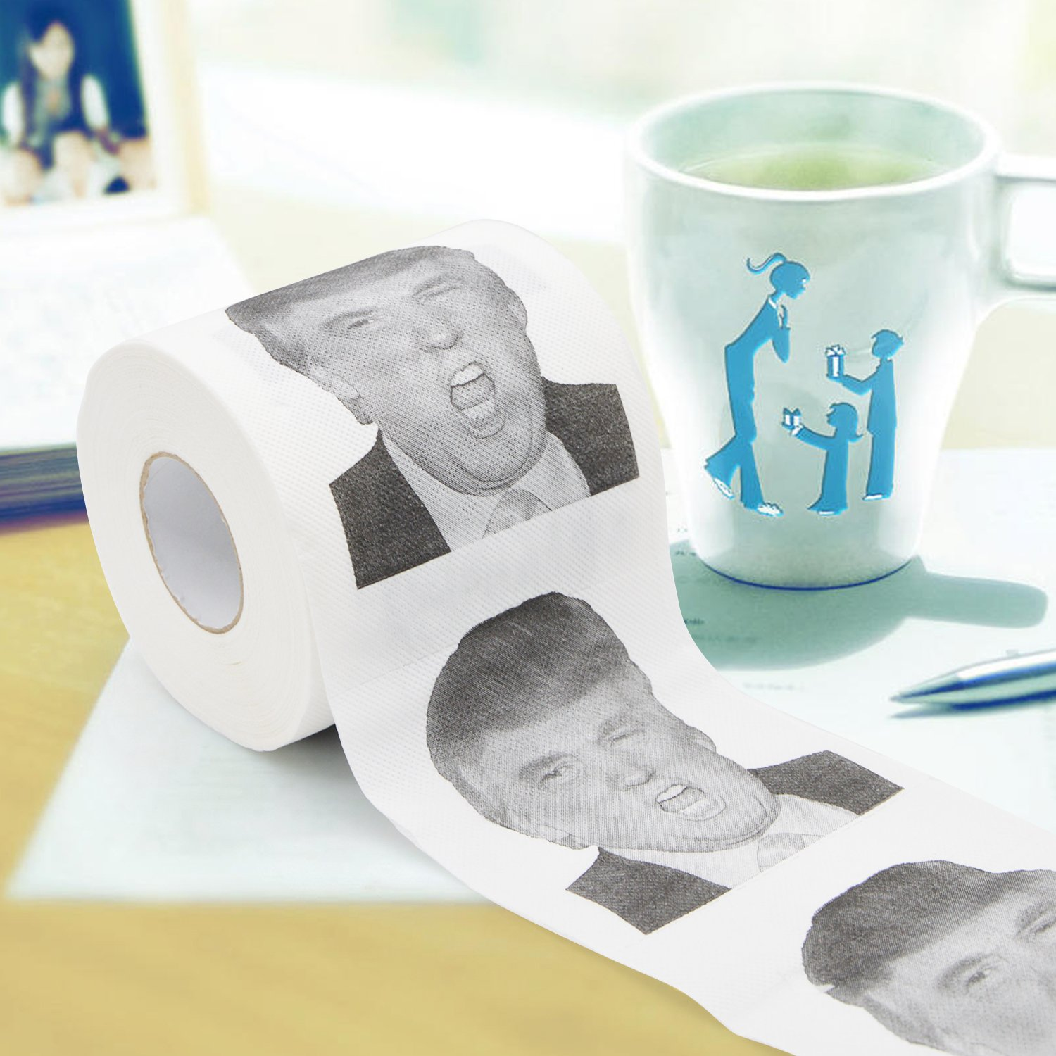 0294280c1c4 Amazon.com: Flantor Trump Novelty Toilet Paper / Stocking Stuffer / Perfect  for Democrats or Republicans Hilarious! Funny! Gag!