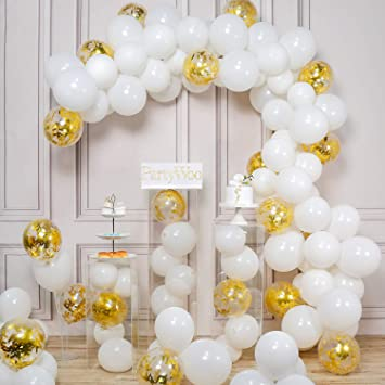PartyWoo Látex Globos de Cumpleaños 100 Piezas Globos de Helio Globos Boda para Cumpleaños Decoración Fiesta Aniversario Baby Shower Comunión Bodas ...