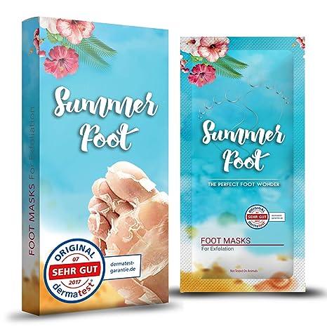 Summer Foot mascarilla exfoliación de pies, elimina callos, cutículas y piel muerta, exfoliante