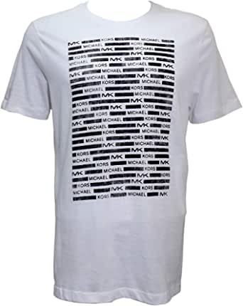 Michael Kors White Round Neck T-Shirt For Boys