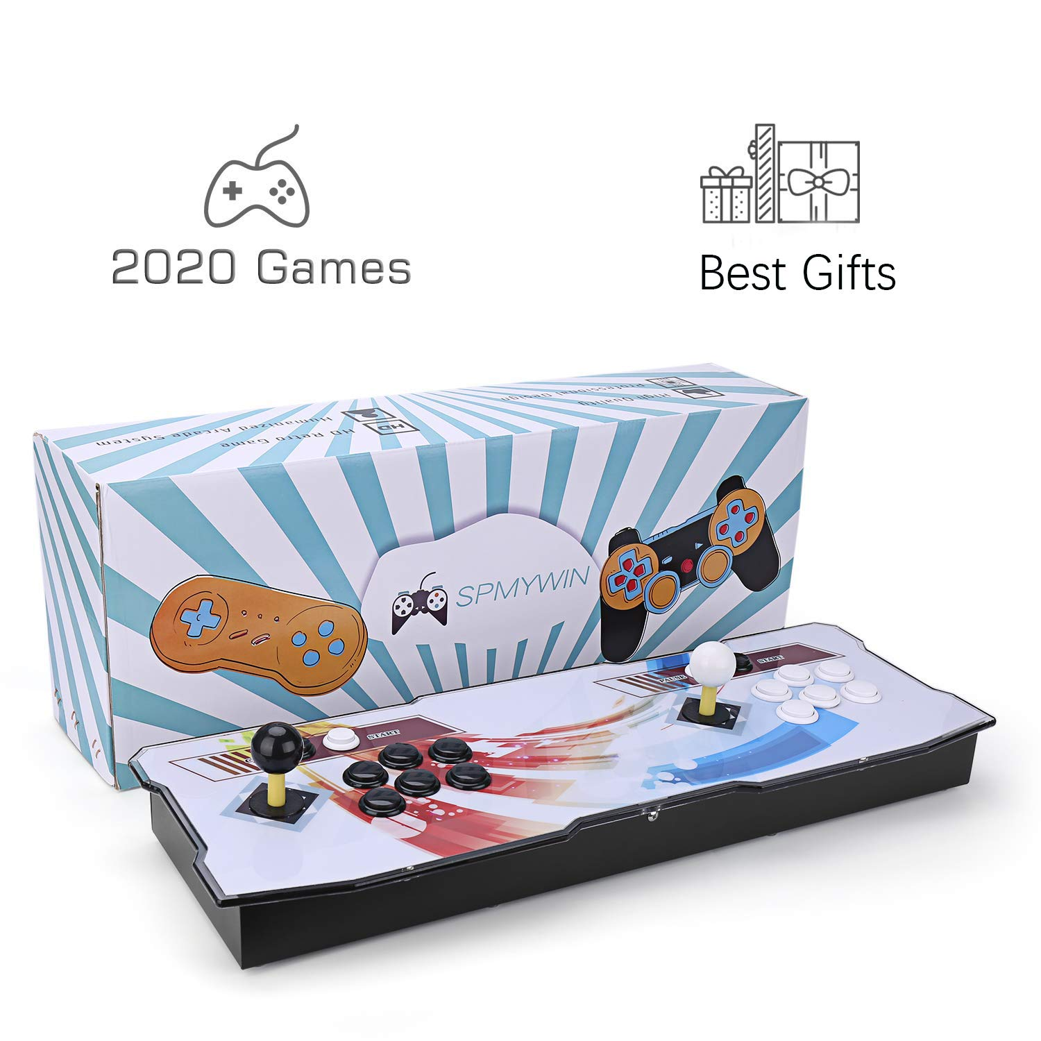 Christmas Gift Ideas 2020 For Gamers Amazon.com: Spmywin Pandoras Box 6 Arcade Video Game Console