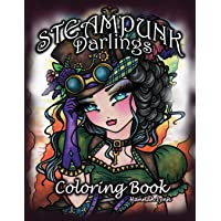 Steampunk Darlings Coloring Book