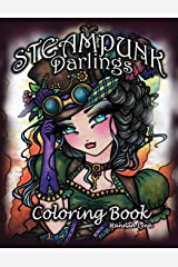 Steampunk Darlings Coloring Book Paperback