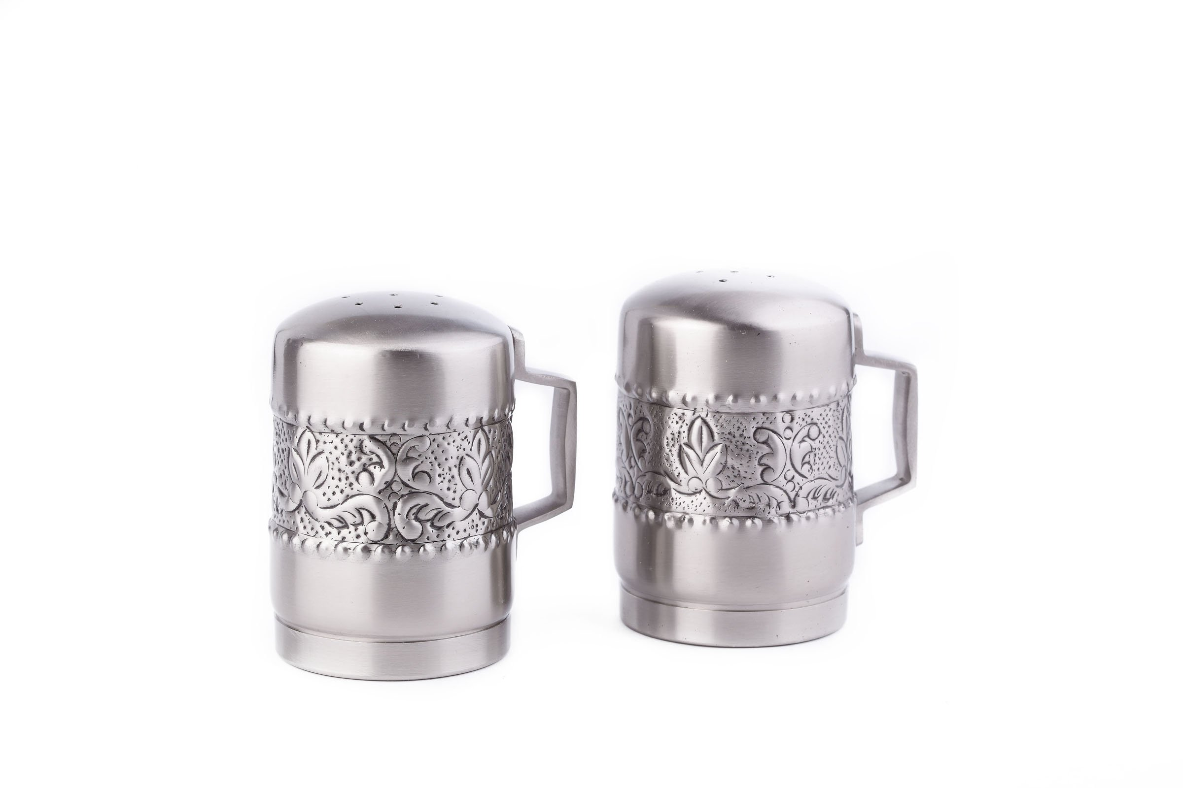 Old Dutch Antique Embossed Victoria Stovetop Salt and Pepper Set, 4-1/4-Inch