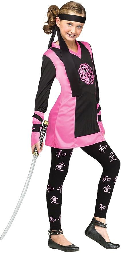 Amazon.com: UHC Girl\'s Dragon Ninja Theme Party Fancy Dress Child ...