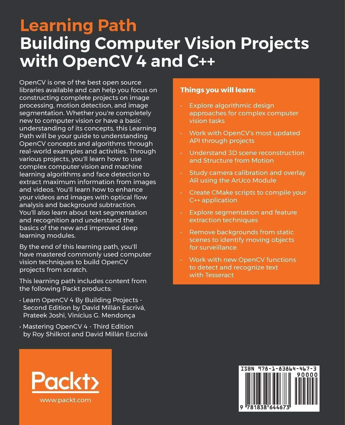 Building Computer Vision Projects with OpenCV 4 and C++
