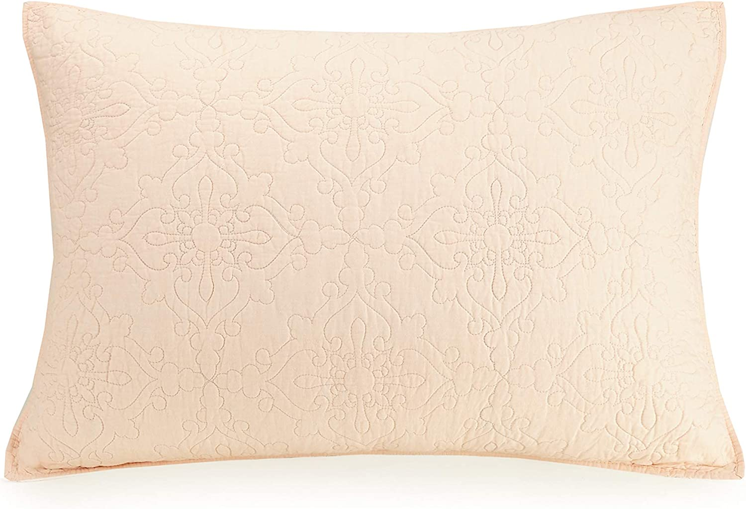 Mary Jane's Home Darling LACE SHAM, Standard, Blush
