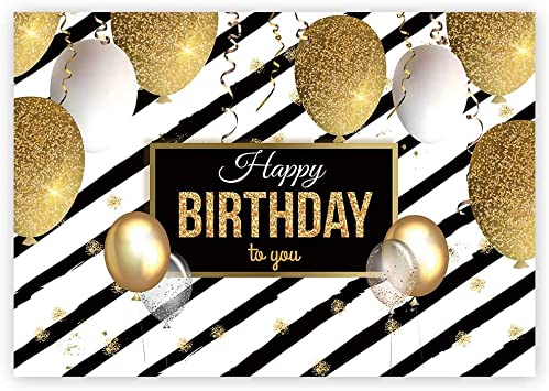 18TH EIGHTEENTH BIRTHDAY PARTY PERSONALISED BANNER BACKDROP BACKGROUND GOLD BLAC