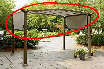 Replacement Canopy for Sears Garden Oasis Pergola S-PG11D1 Light Polyester Fabric With Brown Trim & Amazon.com : Replacement Canopy for Sears Garden Oasis Pergola S ...