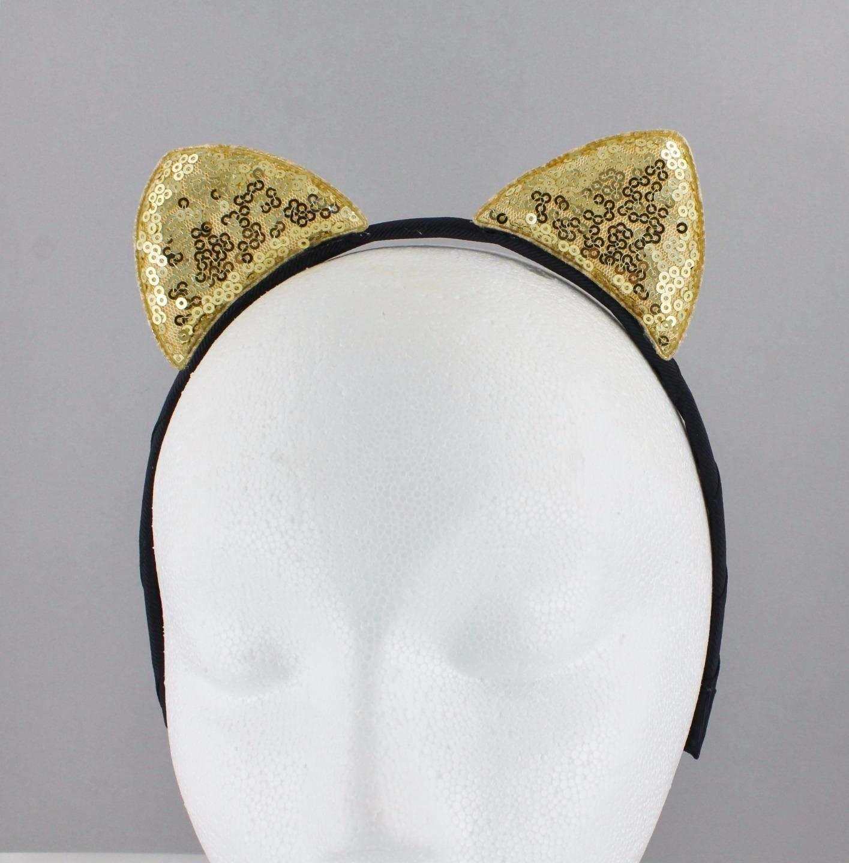 CAT EARS HEADBAND STAR KITTY FANCY DRESS HAIR BAND HEADBAND ALICE BAND METAL