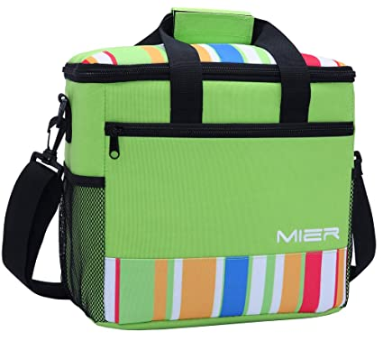 d98187d26220 MIER 15L Large Insulated Lunch Bag Picnic Cool Bag for Men and Women ...