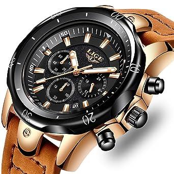 Casual Schwarz Quarzuhr Männer Frauen Leder Edelstahl Armband 50 Mt Wasserdichte Armbanduhr Geschenk Partneruhren