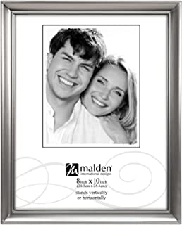 malden designs concourse pewter metal picture frame 8x10 silver - Metal Picture Frames