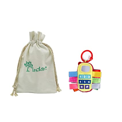 Inchant pesebre del bebé Juguetes - Bebés Peluches con traqueteo de Bell y cintas de colores