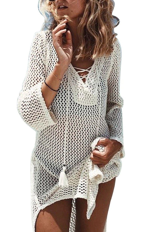 Loritta Womens Bathing Suit Swim Beach Bikini Swimwear Crochet Cover up Dresses