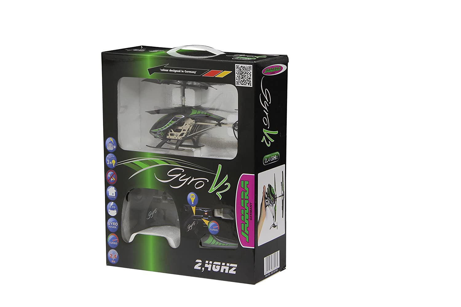 Amazon.com: Jamara Gyro V2 038150 Remote-Controlled Helicopter: Toys & Games