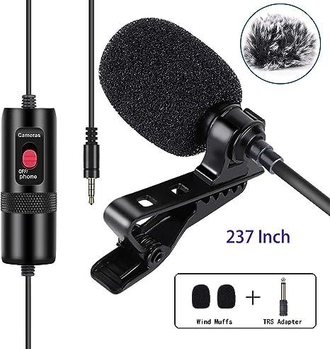 Micrófono de solapa Lavalier omnidireccional con clip con ...