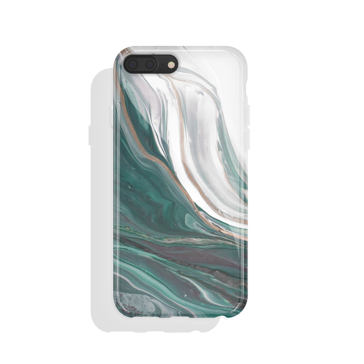 iPhone 8 plus & iPhone 7 plus Case Agate, Akna Charming Series High Impact Silicon Cover with HD Graphics for iPhone 8 plus & iPhone 7 plus (101340-U.S)