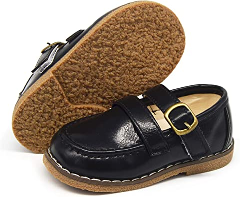 Amazon.com | TIMATEGO Toddler Baby Boys Girls Loafers Slip On Shoes  Synthetic Leather Non Slip Sole Infant School Boat Dress Flat  Shoes(Toddler/Little Kids) | Athletic