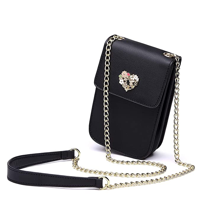 2e05c05b59f8 NeverOut Women Girls Cute Small Crossbody Shoulder Bag Split Leather Cell  phone Purse wallet