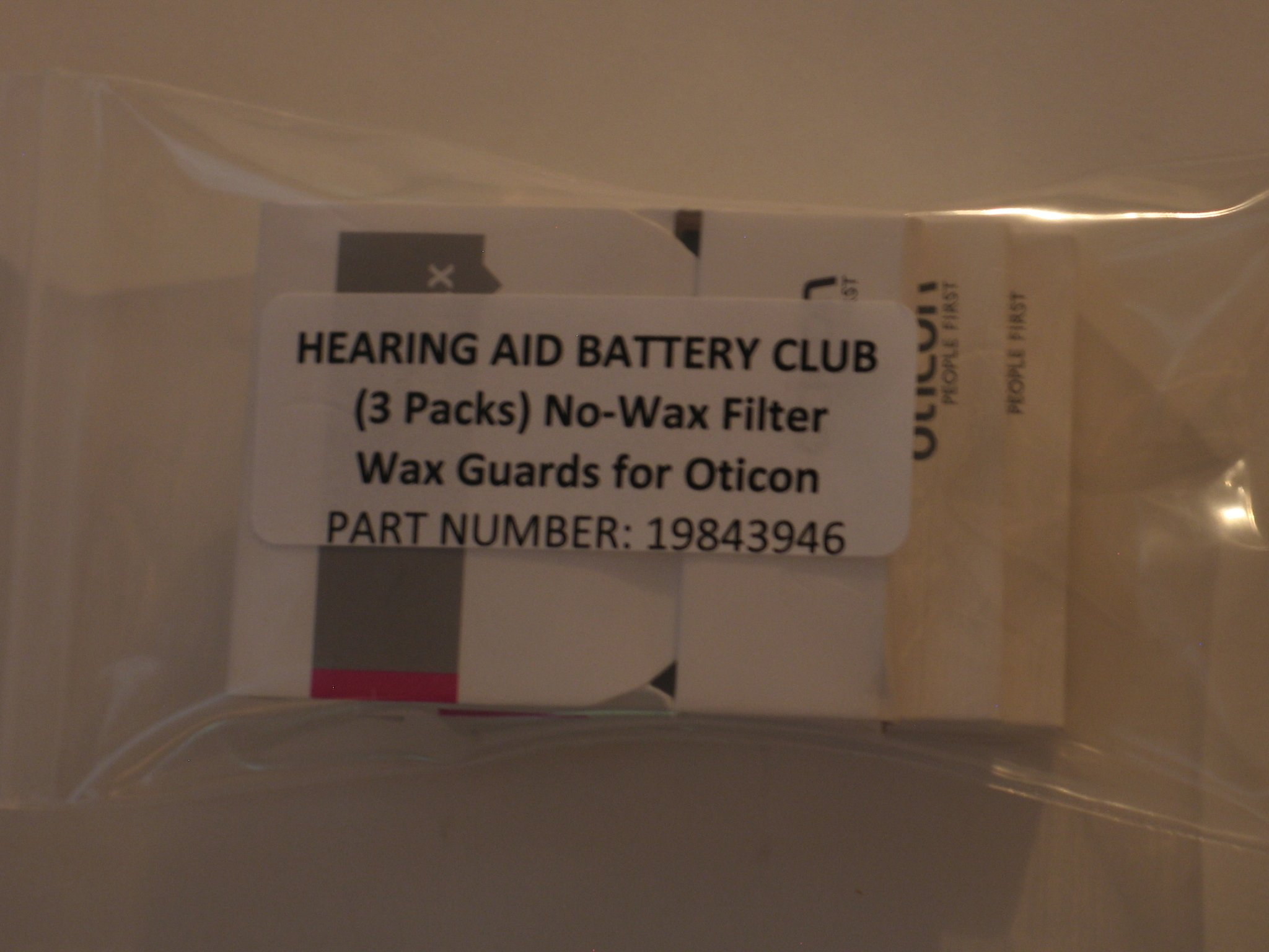 (3 Packs) Oticon No-Wax - Wax Guard, for Oticon by Hearing Aid Battery Club