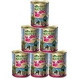 Dehner Best Nature Katzenfutter Adult, Tropen, Büffel und Huhn, 6 x 400 g (2400 g)
