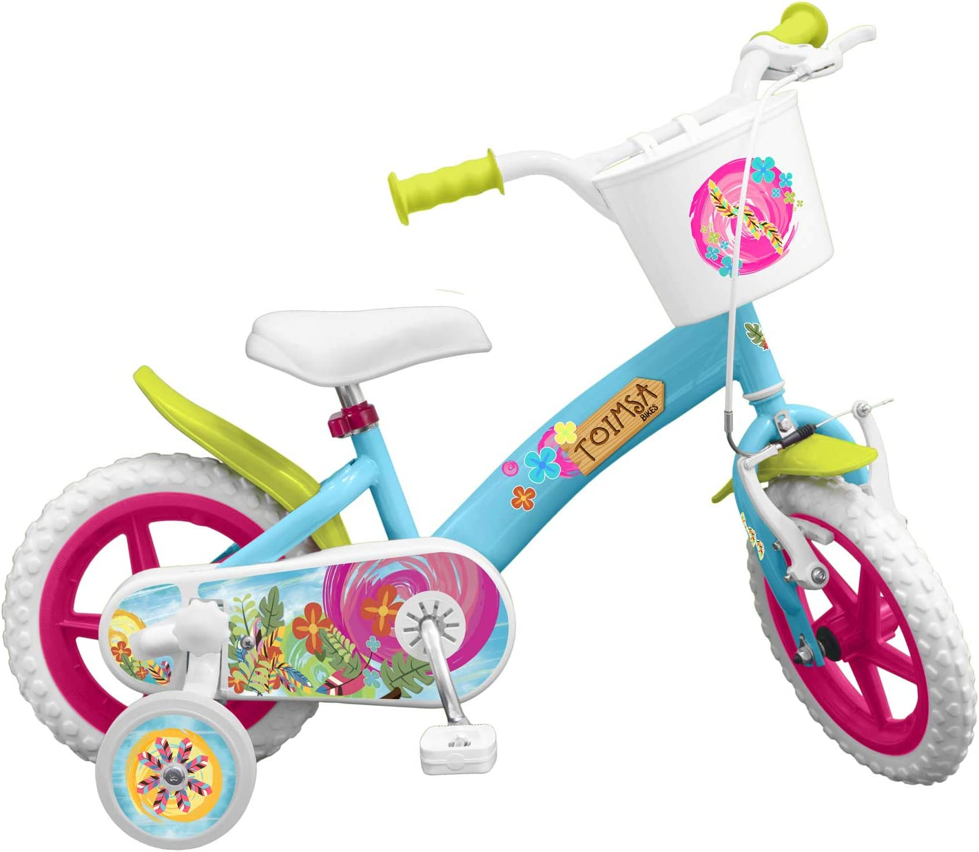 Toimsa - Bicicleta de 12 pulgadas, modelo Flowers 3-5 años, 12001 ...