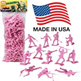 TimMee PLASTIC ARMY MEN: Pink 100pc Toy Soldier Figures - Made in USA