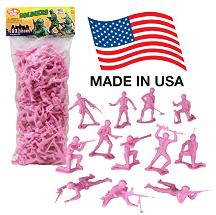 Amazon Com Timmee Plastic Army Men Pink 100pc Toy Soldier Figures