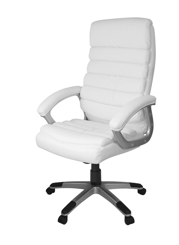 Bürostuhl weiß  AMSTYLE, Bürostuhl, SPM1.184, VALENCIA Bezug Kunstleder Weiß ...