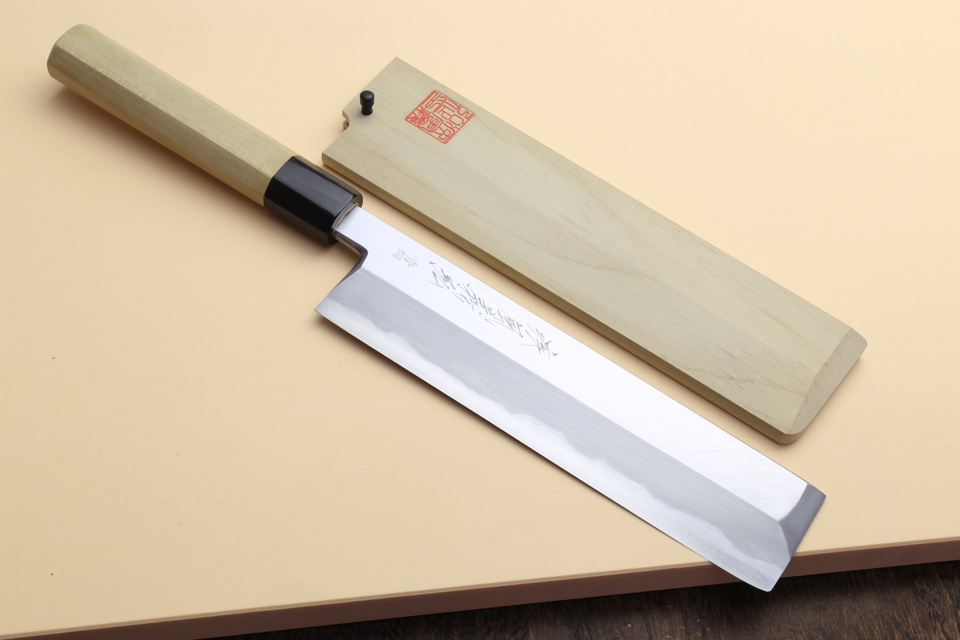 Yoshihiro High Carbon Blue Steel Hongasumi Edo Usuba Japanese Vegetable Chef's Knife 8.25inch (210mm)