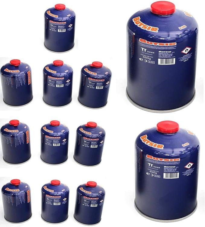 Envio 24h12 x Butsir B-500 Cartucho de Gas 450 gr – bombona perforable con limitador de Fugas – Botella Camping Gas Chollo Promocion Precio Rebaja ...