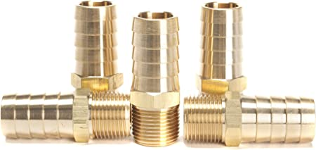 "Brass Barb Fitting 1//4/"" ID Hose x 1//2/"" BSP Water Air Fuel Connector Boat Coupler"
