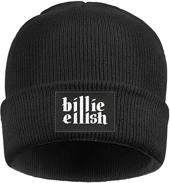 Black beanie Billie with Billie Eilish script in white