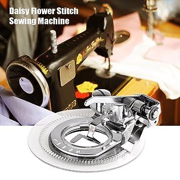 Efanr multifuncional Daisy flor redonda de punto de círculos bordado de coser para cantante Brother Janome y otras bajo vástago máquina de coser: Amazon.es: ...