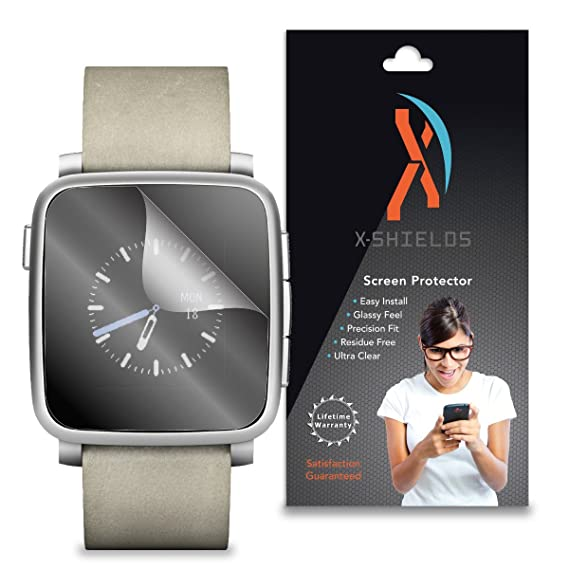 XShields© (5-Pack) Screen Protectors for Pebble Time Steel Smartwatch (Ultra Clear)