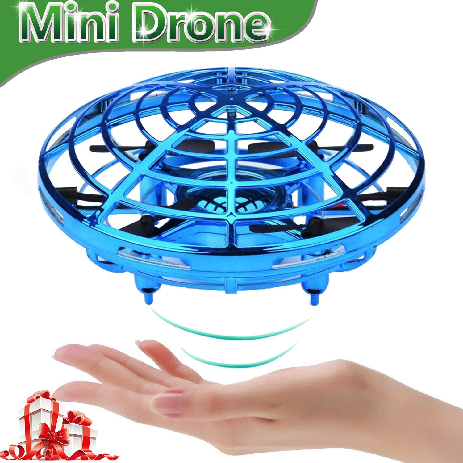 bluee WANGKM Mini Drone RC Toys for Kids, Flying Ball Hand Remote Controlled Quadcopter LightUp Flying Toys 360° redating Magic Floating Helicopter Toys Valentine Day New Year Birthday