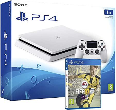 PS4 Slim 1Tb Blanca Playstation 4 Consola - Pack FIFA 17: Amazon ...