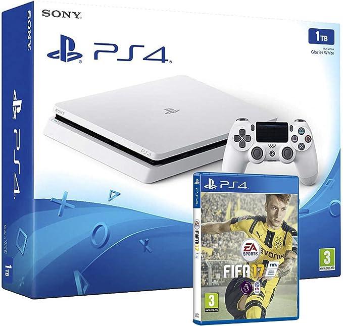 PS4 Slim 1Tb Blanca Playstation 4 Consola - Pack FIFA 17: Amazon.es: Informática