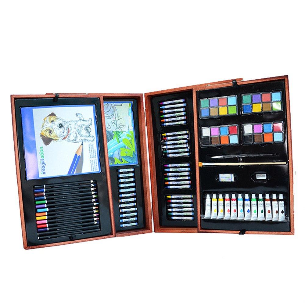 Art Art Art Supplies Set 177 Pieces Portable Super Wooden Box Art