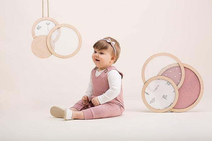 M/ädchen Rosa mit Beige Spitze aus 100/% Baumwolle Viele Gro/ßen Pinokio Baby Langarm Body Neugeborene Petit Lou Su/ß