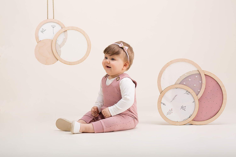 100/% Cotone 56,62,68,74,80 cm Bambine e Ragazze Tuta Baby Girl Bimba Salopette Rosa con Bottoni Petit Lou Pinokio