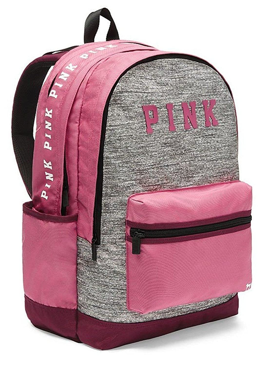 1111a0e8db994 Victorias Secret Pink Campus Backpack Black Orchid And Grey Marl ...